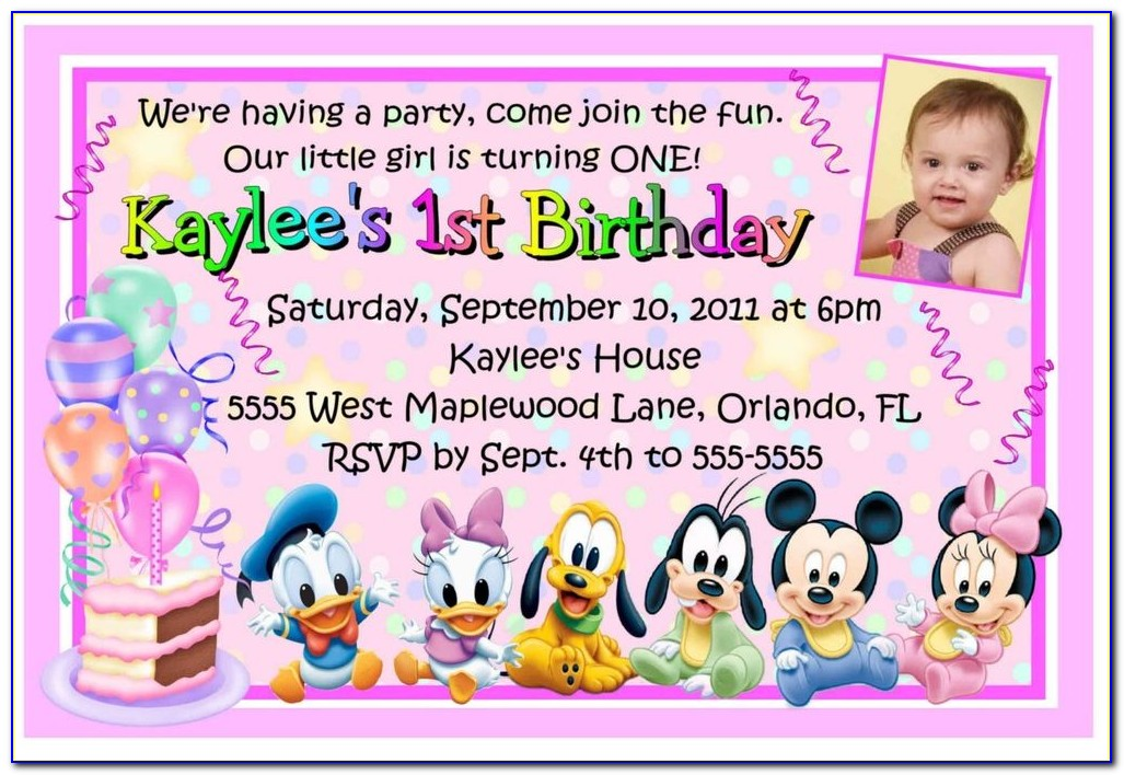 1st Birthday Invitation Template Psd