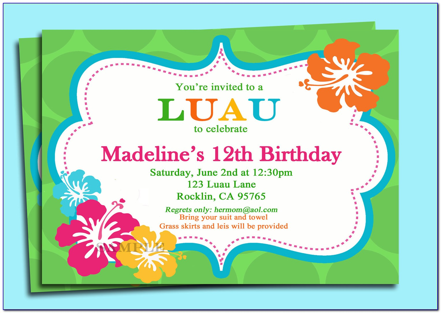 1st Birthday Invitation Template Unicorn