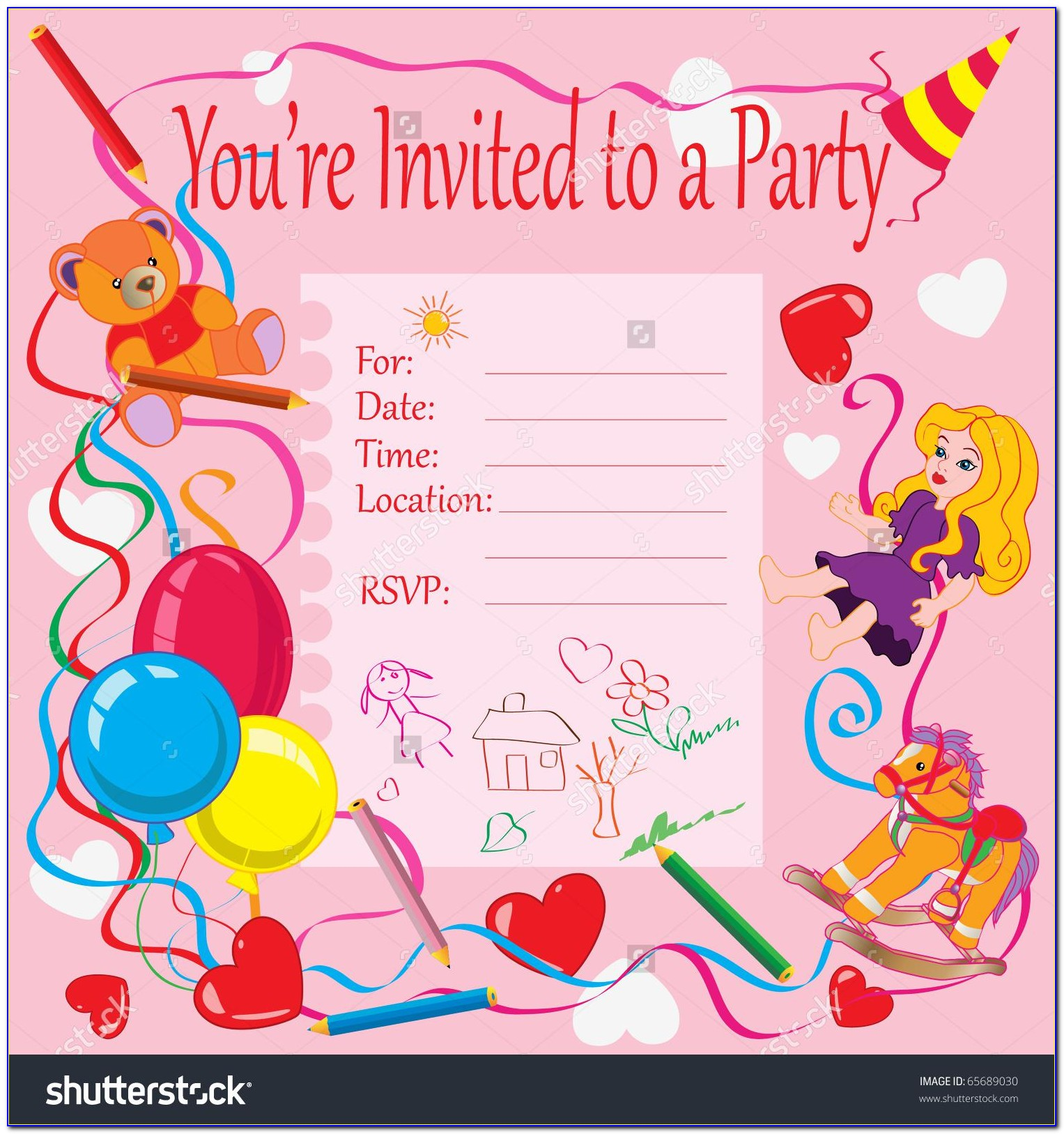 1st Birthday Party Invitation Card Template Free
