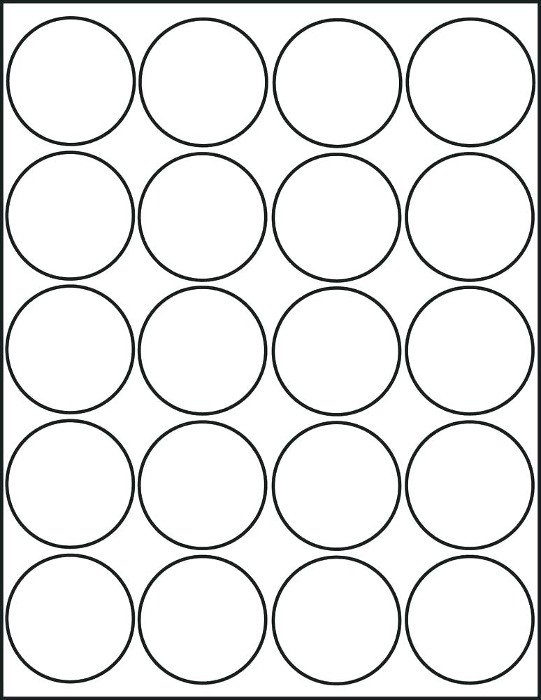 2 Inch Round Label Template Free