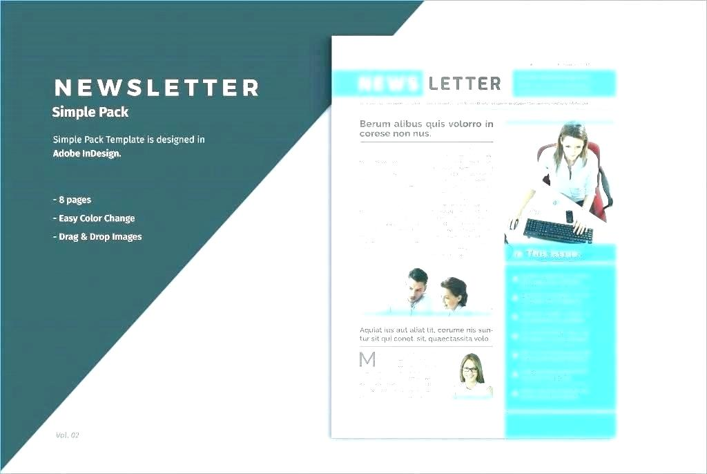 2 Page Newsletter Template Free