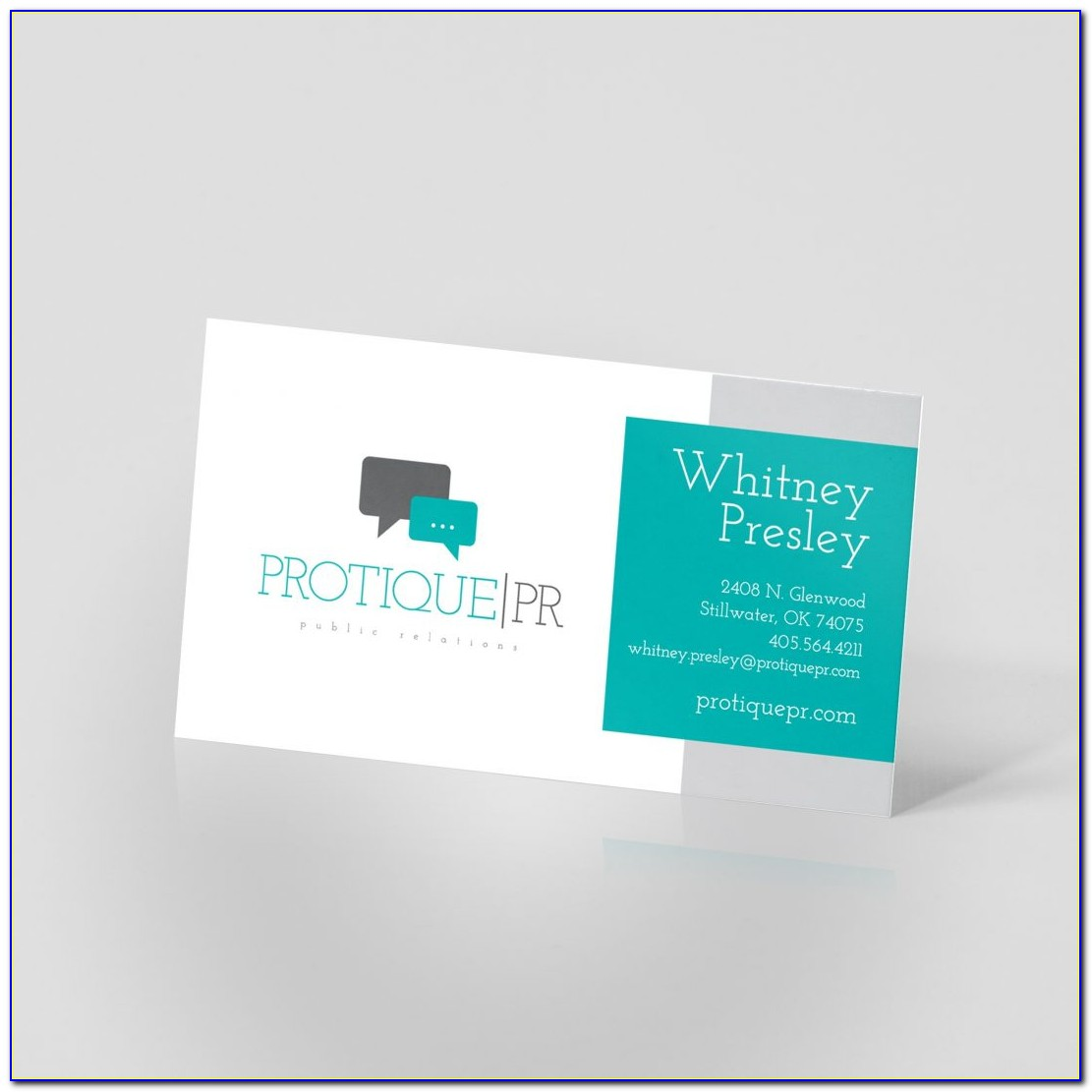 2 Sided Business Card Template Word