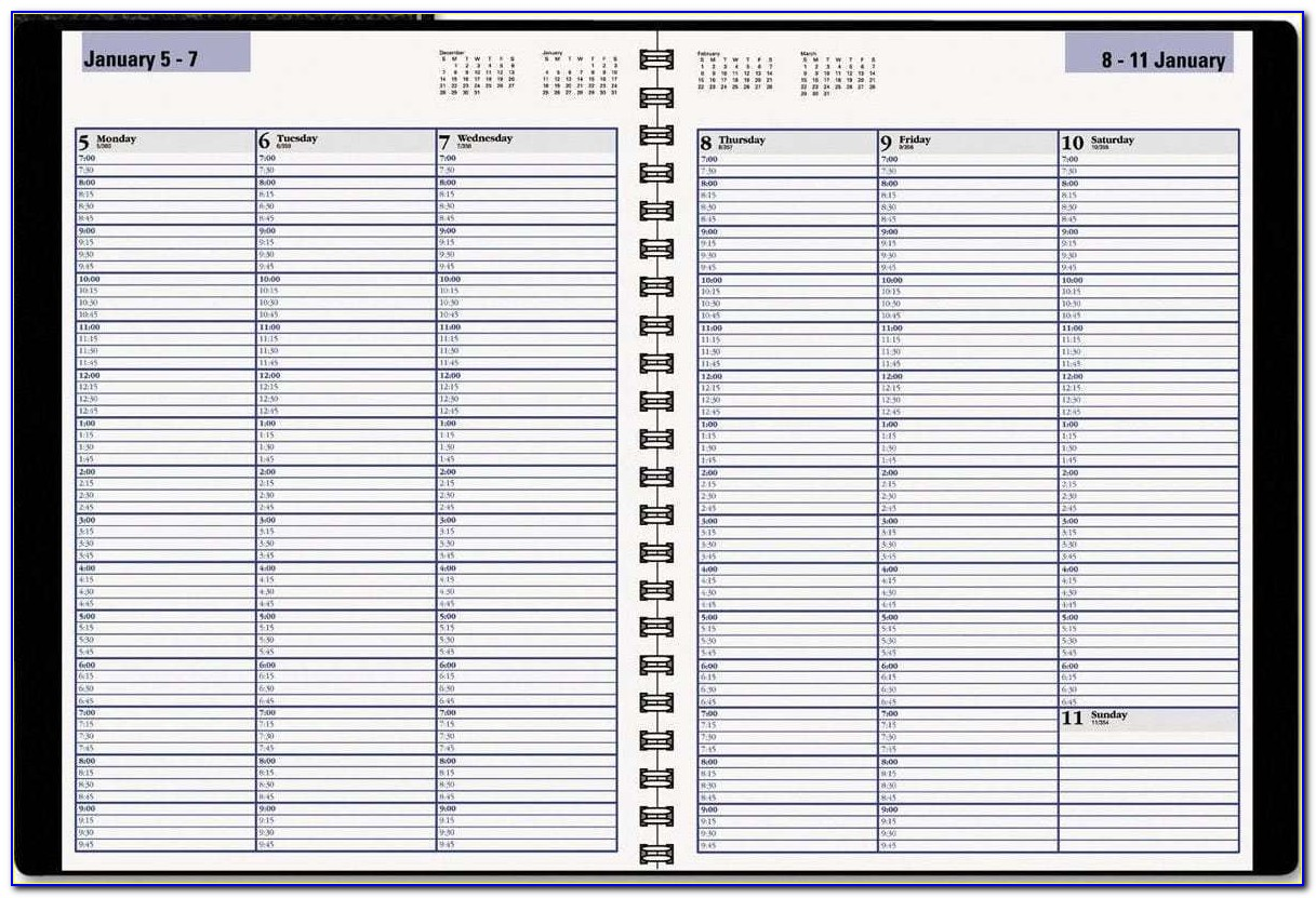 2018 Weekly Appointment Book Printable
