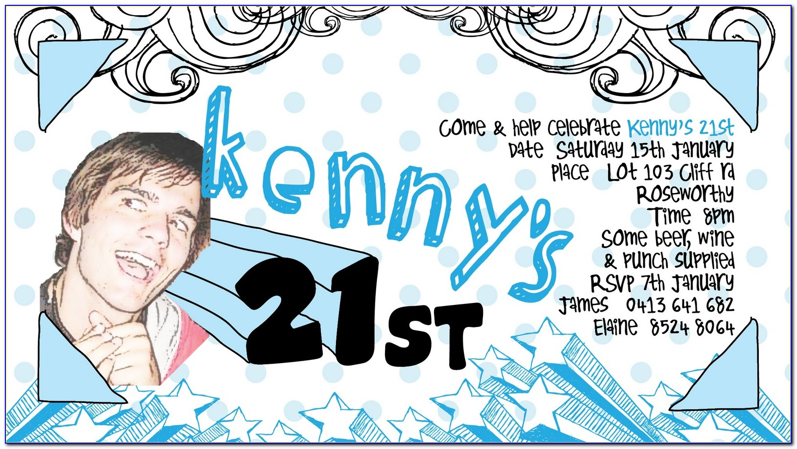 21st Party Invitations Templates Free