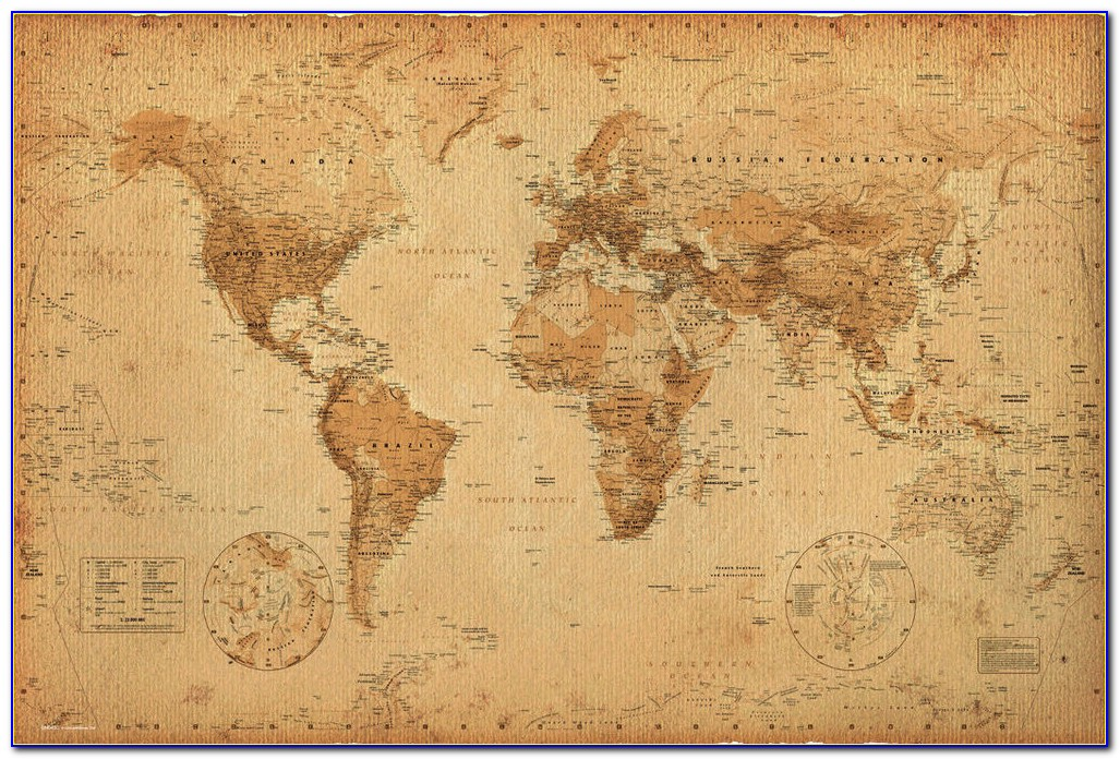 24×36 World Map Poster