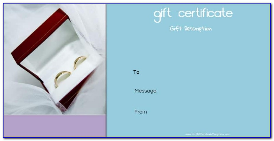 25th Wedding Anniversary Gift Certificate Template