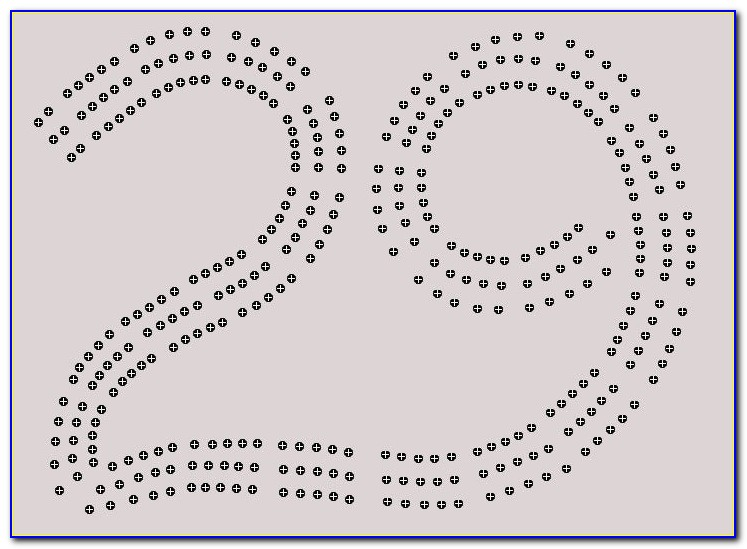 29 Shaped Cribbage Board Template