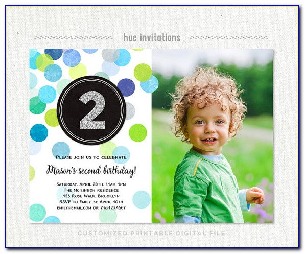 2nd Birthday Invitation Wording Samples