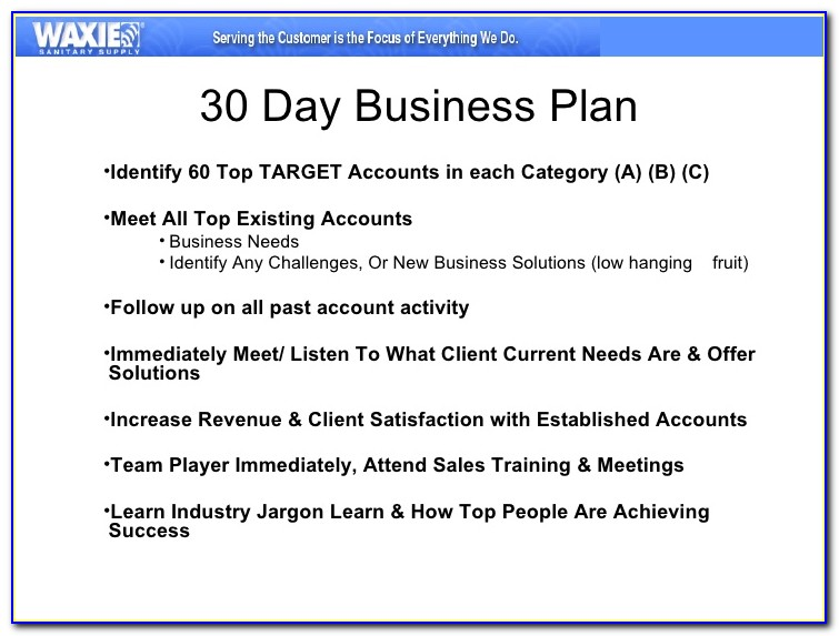 30 60 90 Day Business Plan Template Powerpoint