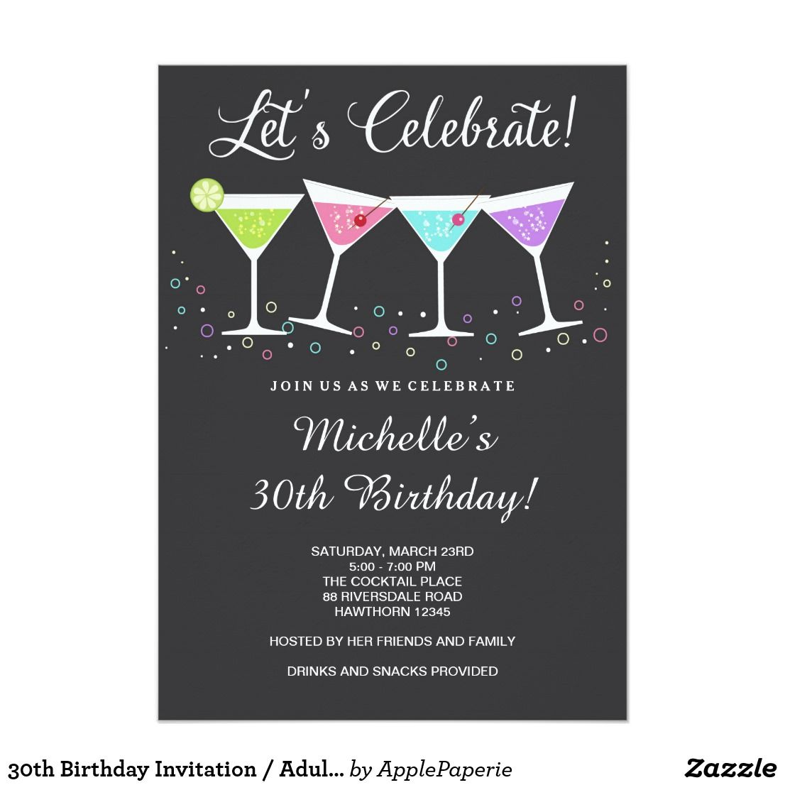 30th Birthday Party Flyer Template 1