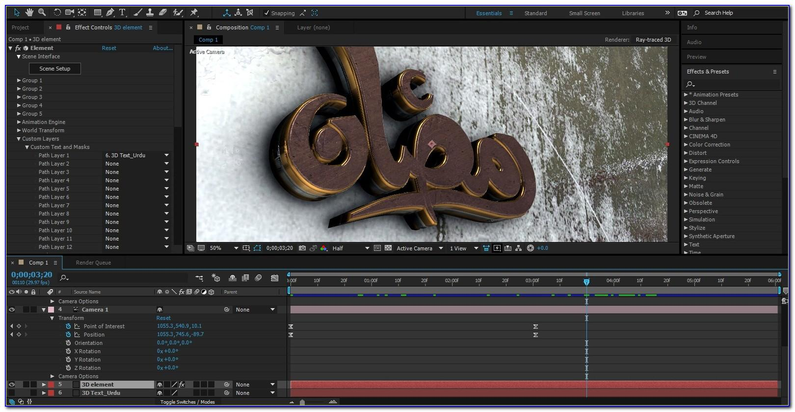 3d Logo Animation After Effects Template Free Download