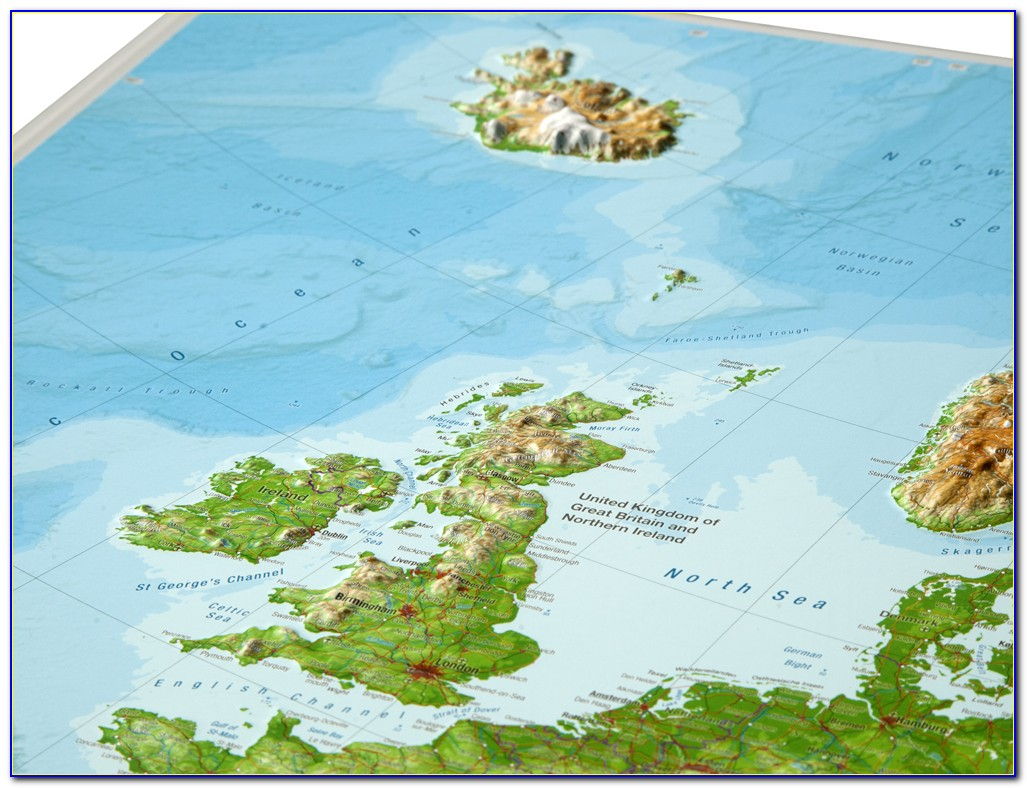 3d Relief Map Of Scotland