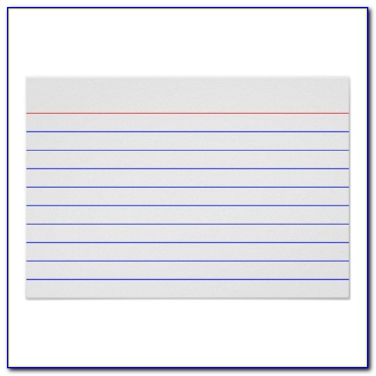 3×5 Index Card Template Excel