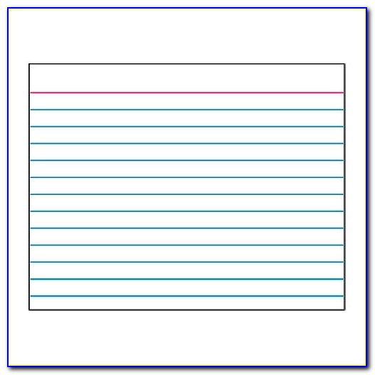 Index Card Template In How To Print On A 4×6 Index Card