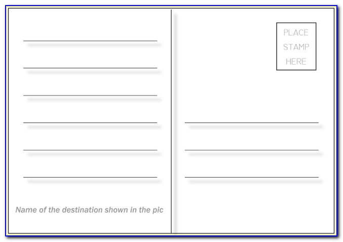 4 X 6 Postcard Template For Publisher