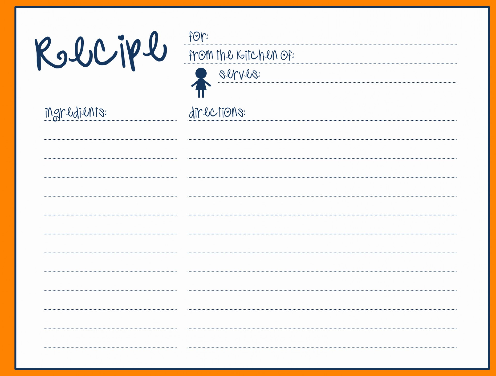 5 7 Recipe Card Template For Word Vincegray2014