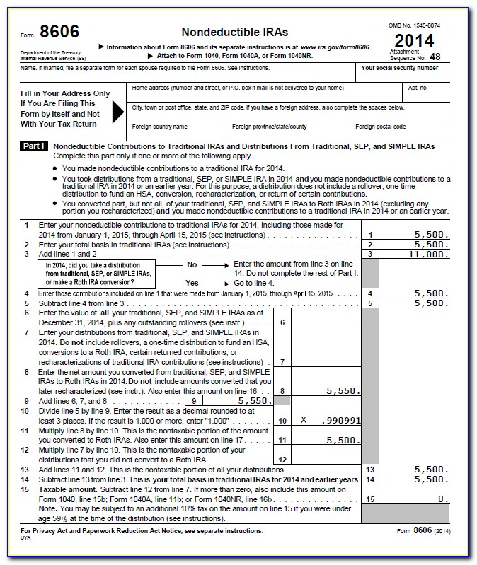 401k Conversion To Roth Ira Tax Form