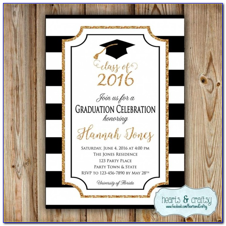 4×6 Graduation Party Invitation Templates