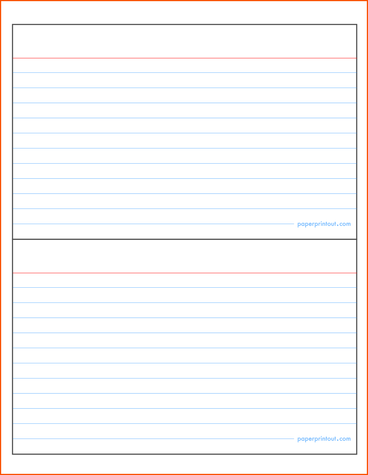 4×6 Index Card Template Word 2013