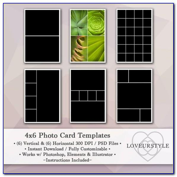 4×6 Photo Collage Template Photoshop