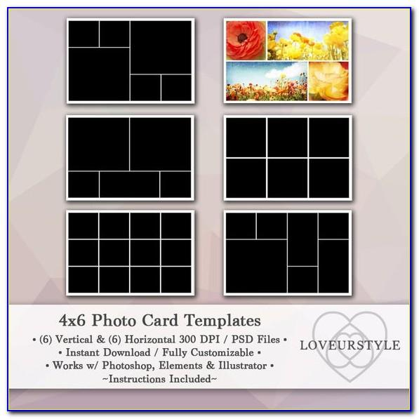 4×6 Photo Collage Template
