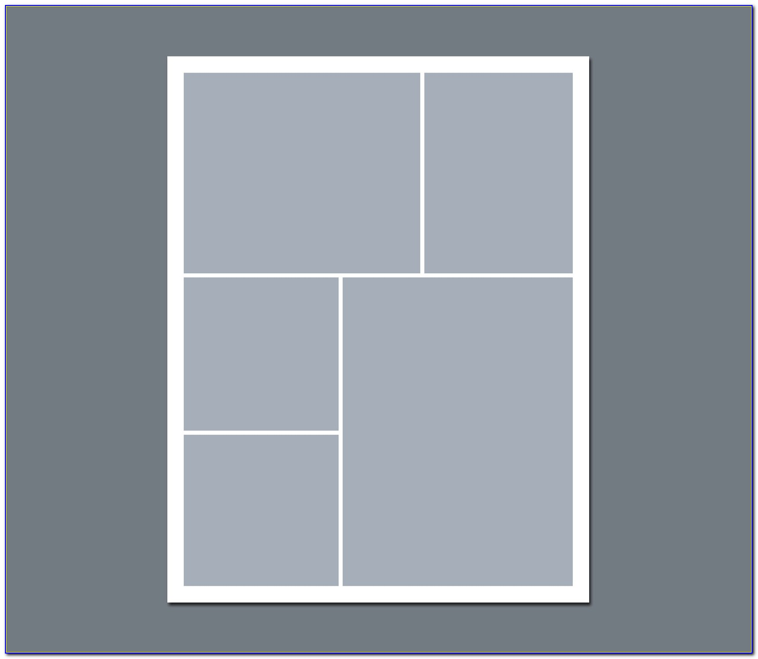 5 Picture Collage Template