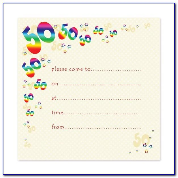 50th Anniversary Party Invitations Templates