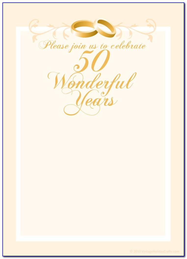 50th Anniversary Templates Free