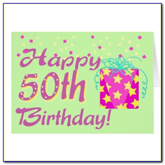 50th Birthday Card Templates Free