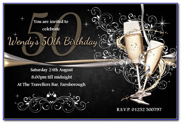 50th Birthday Invitation Templates Free Download