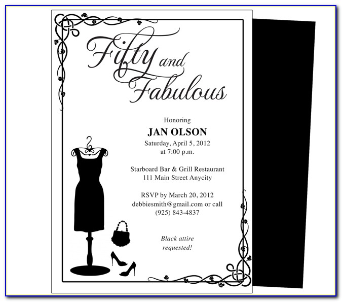 50th Birthday Invitations For Him Free Templates