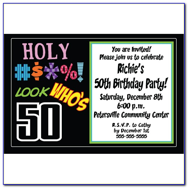 50th Birthday Party Invitations For Her Templates Free