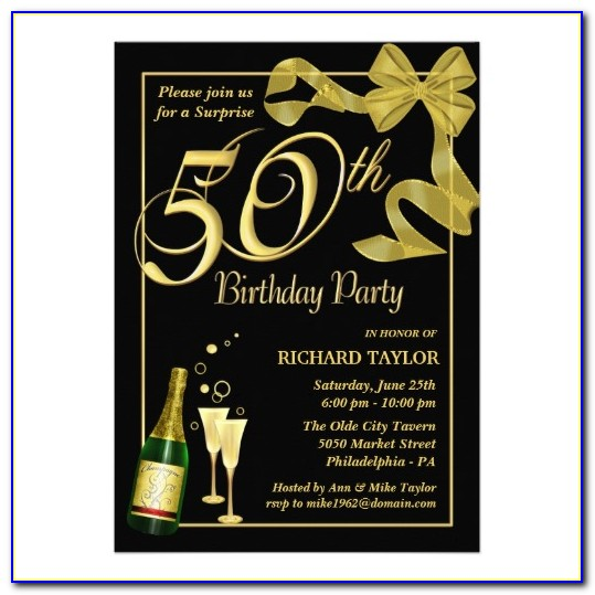 50th Birthday Party Invitations Templates Free