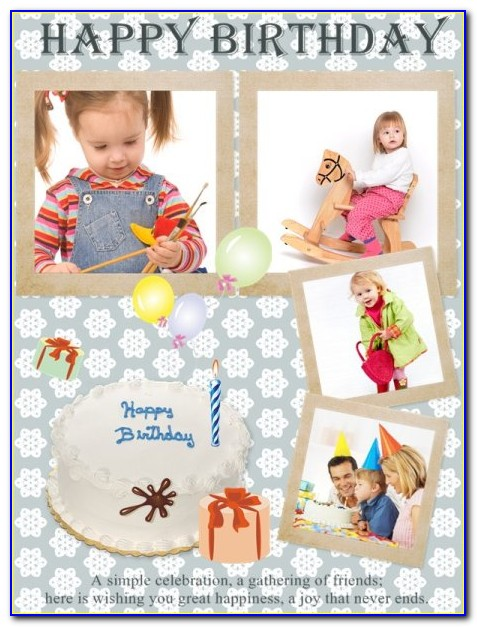 50th Birthday Photo Collage Template