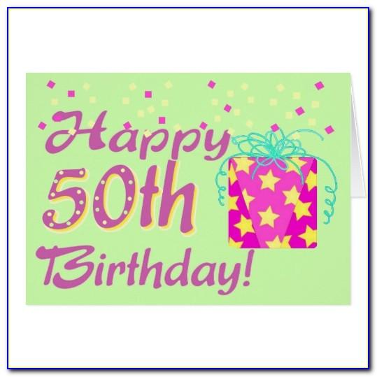 50th Birthday Templates Powerpoint
