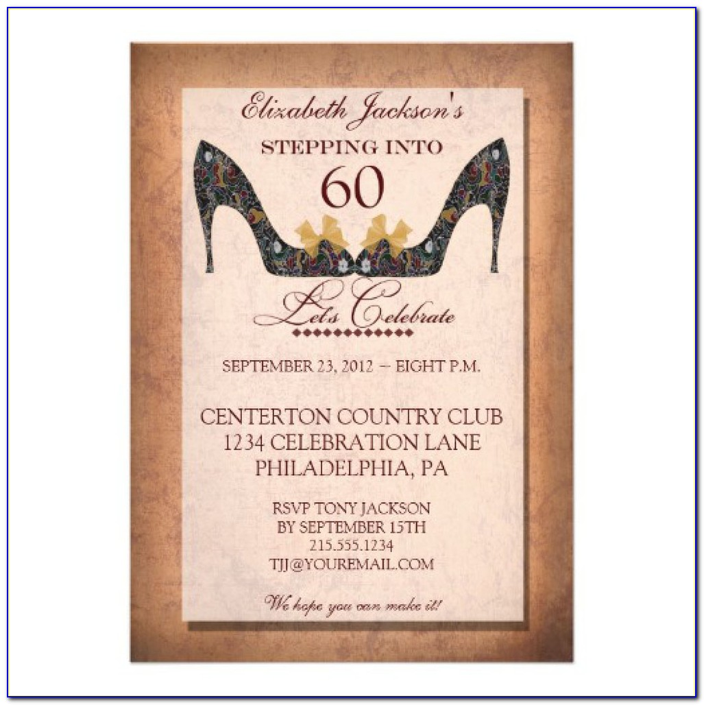 60th Birthday Party Invitations Templates Free