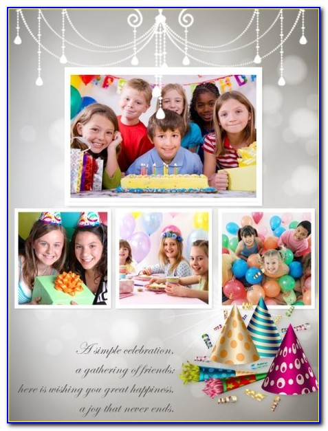 60th Birthday Photo Collage Template