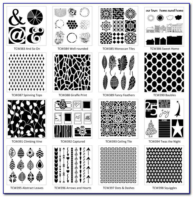 6×6 Crafters Workshop Templates