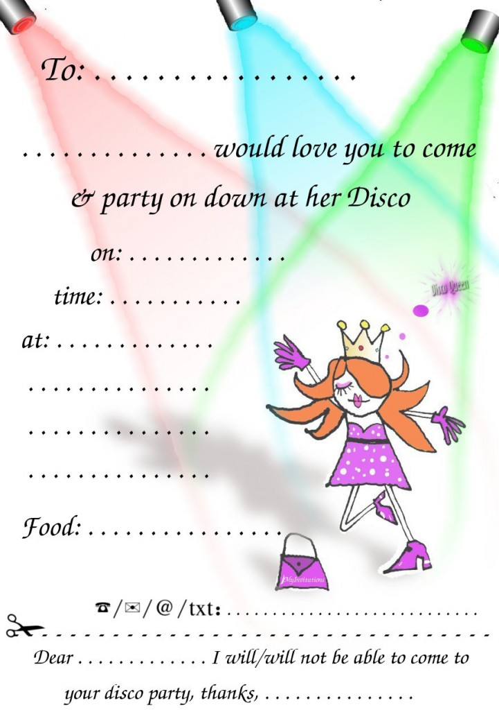 70s Party Invitations Templates Free