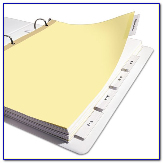 8 Tab Insertable Divider Template Staples