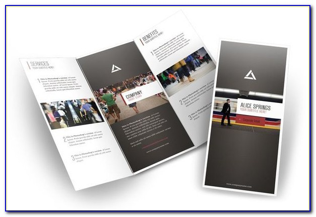 8.5 X 11 Gate Fold Brochure Template
