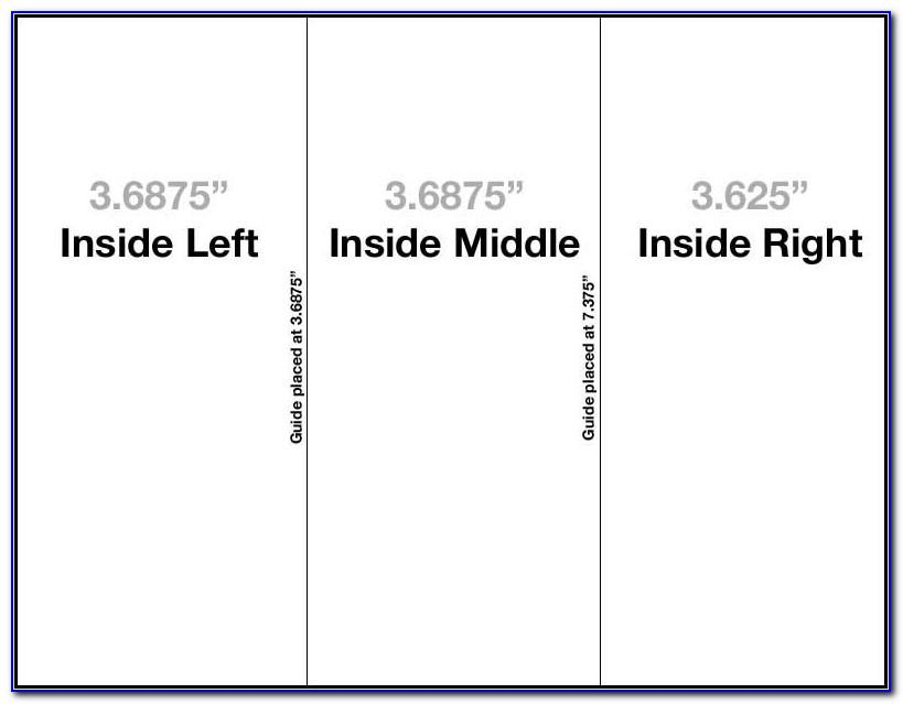 8.5 X 11 Trifold Template Indesign