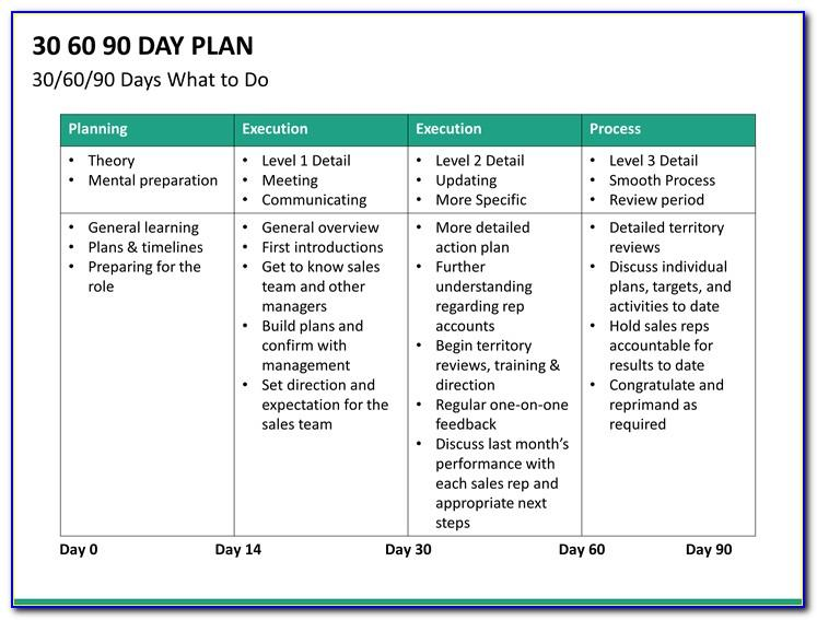 90 Day Business Plan Template Sales