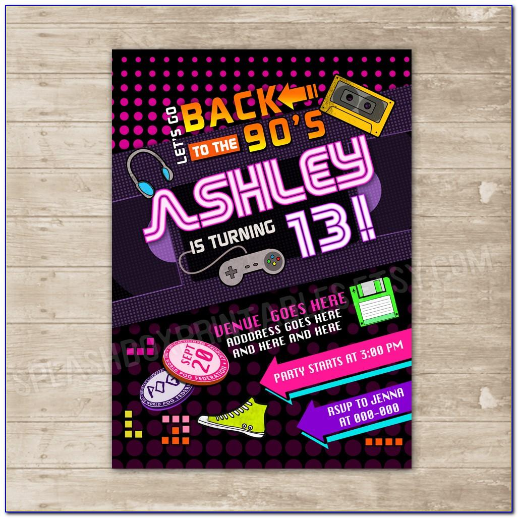 90s Invitation Template Free