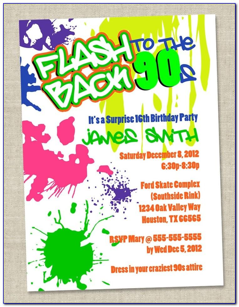 90s Party Invitation Template