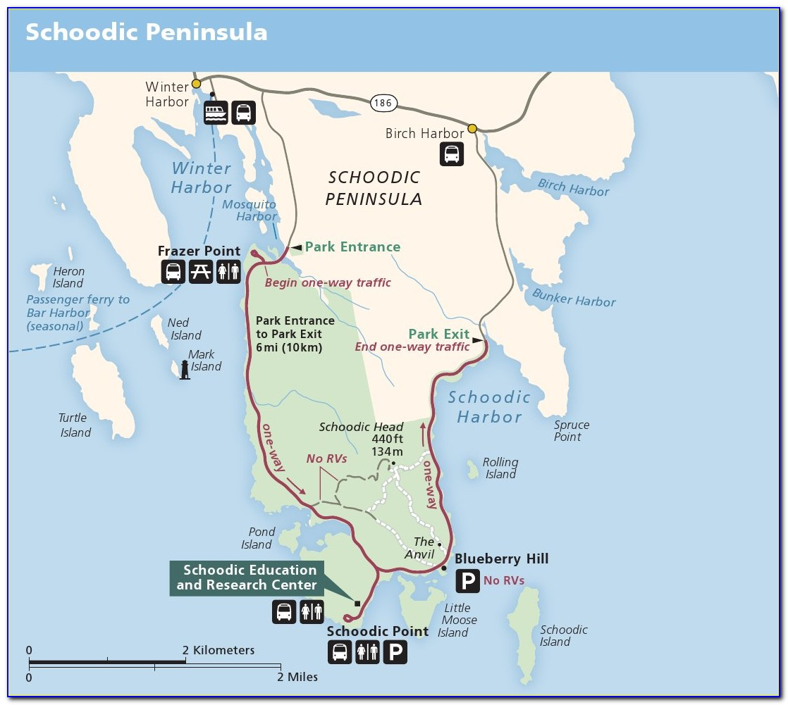 Acadia National Park Carriage Trail Map