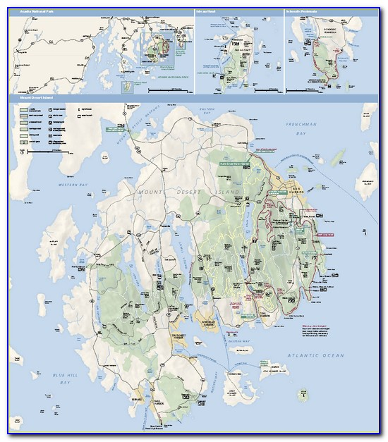 Acadia National Park Hiking Map Pdf