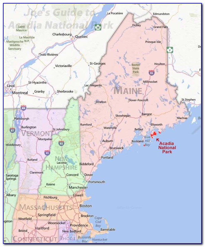 Acadia National Park Map Puzzle