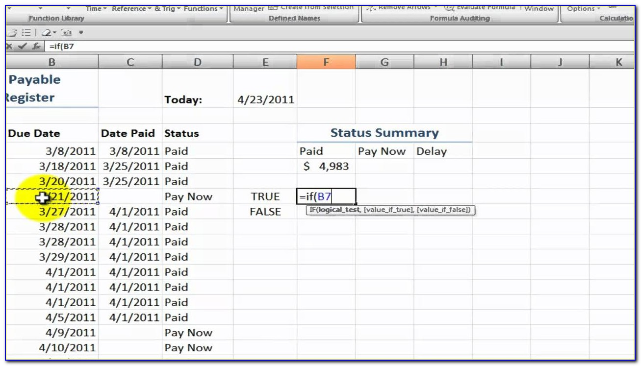 Account Payable Template Free Download