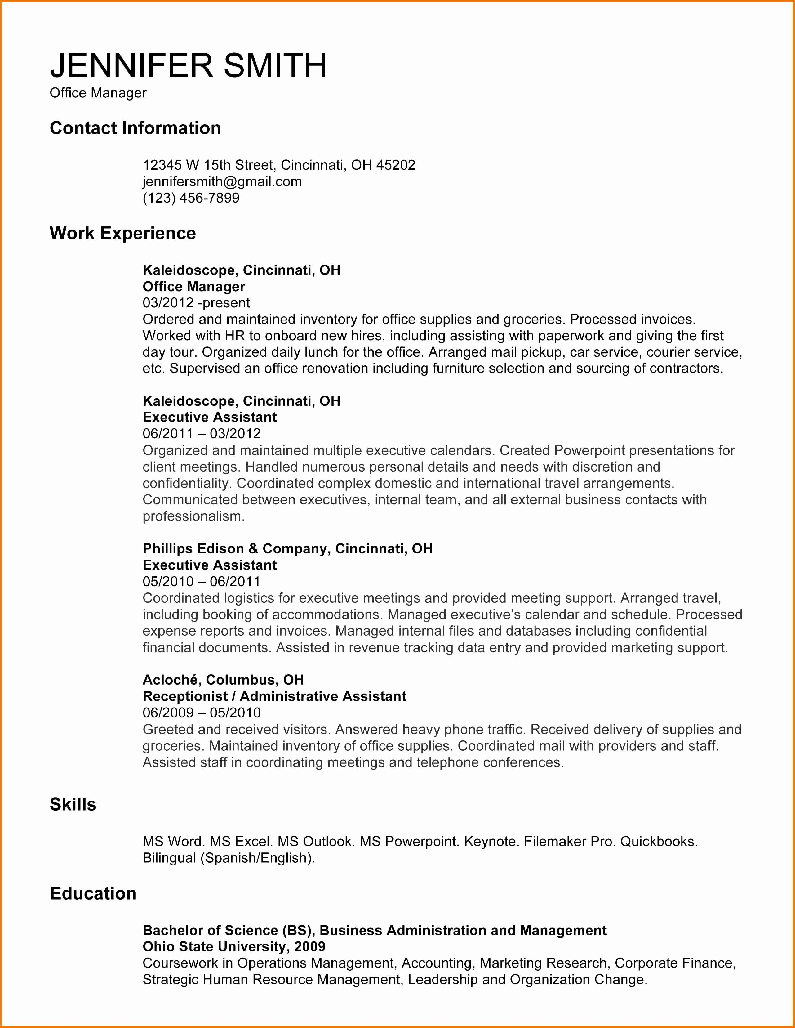 Administrative Assistant Contract Template